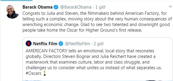 Phim tài liệu sản xuất bởi vợ chồng Barack Obama bất ngờ giành tượng vàng Oscar, giúp vị cựu Tổng thống lập kỷ lục chưa từng có  - Ảnh 3.