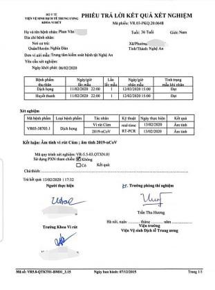 Vụ hành khách nhiễm virus Corona đi xe khách Phú Thọ - Nghệ An: Xét nghiệm lần 1 âm tính - Ảnh 4.