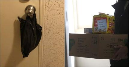 Người đàn ông Hàn Quốc tự cách ly tại nhà kể chuyện về phản ứng ấm lòng của mọi người xung quanh với chiếc túi ni lông trên nắm cửa - Ảnh 2.