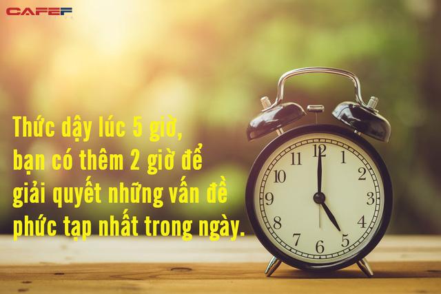 Thói quen dậy sớm không dễ, nhưng hoàn toàn xứng đáng: Tỉnh giấc lúc 5 giờ sáng, bạn có thêm 14 giờ/tuần, 730 giờ/năm để tận dụng cơ hội tốt hơn 90% số đông còn lại - Ảnh 1.