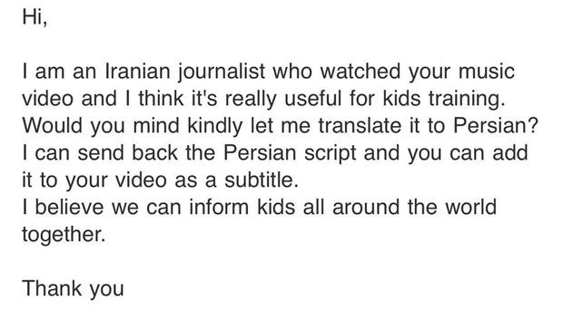 Ghen Cô Vy quá hot: Min chia sẻ email phóng viên người Iran xin phép được chuyển ngữ để thông tin đến trẻ em toàn thế giới! - Ảnh 2.
