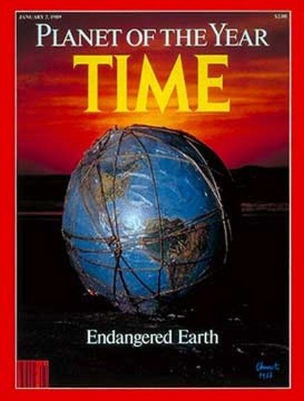 Trái đất cũng từng lên bìa tạp chí Time với danh hiệu Hành tinh của năm.