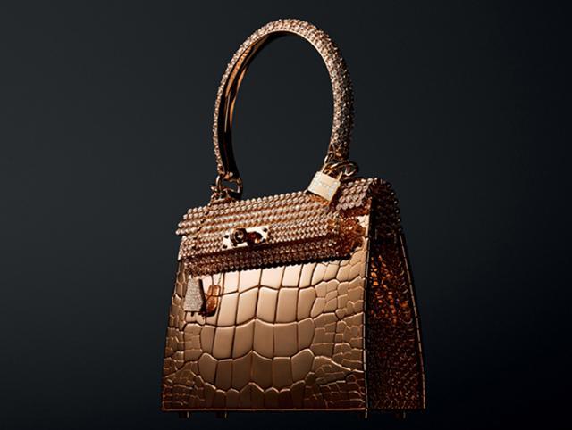 Chiếc Kelly vàng hồng đính kim cương có giá 1.9 triệu USD (42 tỷ đồng)