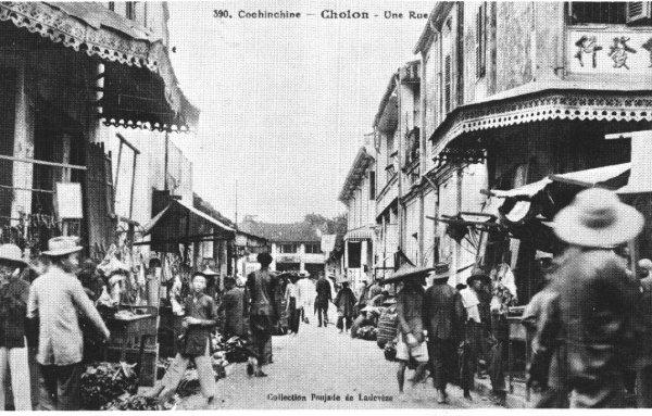 Khung cảnh Chợ Lớn xưa.