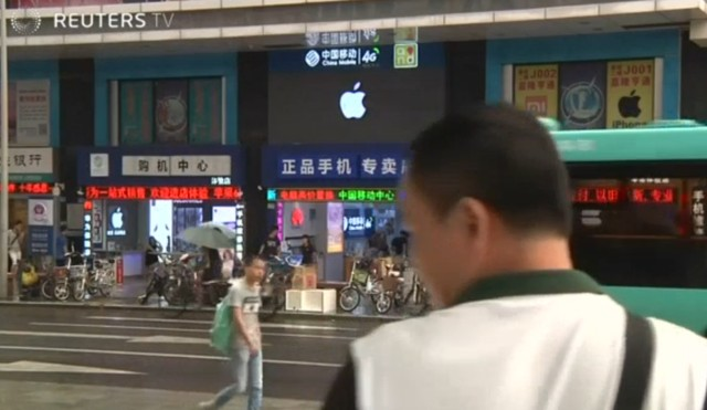Một cửa hàng Apple Store giả tại thành phố Thâm Quyến