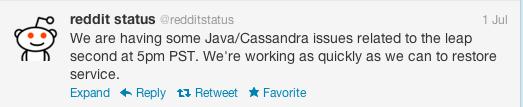 Trang web Reddit ngừng hoạt động do lỗi Java.