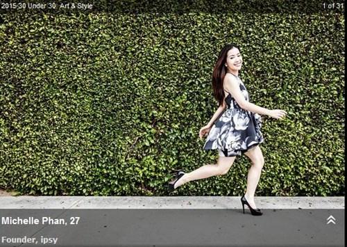 Michelle Phan lọt vào danh sách 30 Under 30 của Forbes