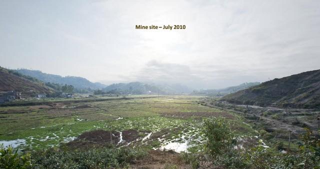 Tháng 7/2010, dự án Núi Pháo vẫn là chỉ là khu đất trống