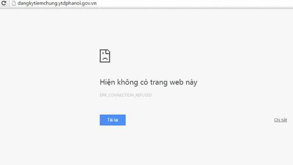 Nhiều người không thể truy cập vào trang web của Trung tâm y tế dự phòng