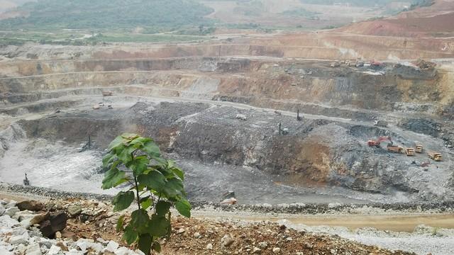 Mỏ khai thác quặng của dự án Núi Pháo