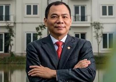 Ông Phạm Nhật Vượng là đại diện duy nhất của Việt Nam có mặt trong danh sách tỷ phú đô la của Forbes.
