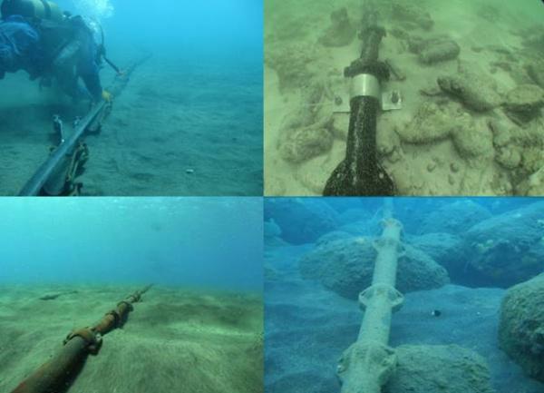 Cáp quang biển nằm nổi trên nền cát đáy biển khiến các mỏ neo được tàu thuyền thả xuống rê trên nền cát rất dễ vướng phải, gây hư hại.