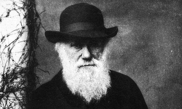 Charles Darwin với cái nhìn lạnh lùng trong ảnh chân dung.