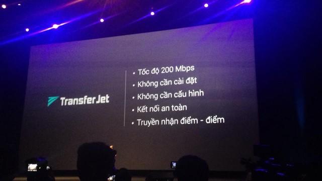 Chuẩn kết nối không dây Transfer Jet với tốc độ lên đến 200 Mbps, nhanh gấp 500 lần so với chuẩn NFC.