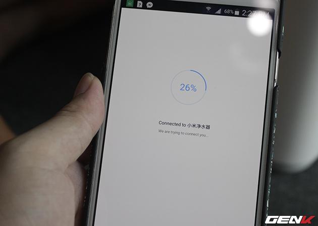 Khi muốn theo dõi tình hình chất lượng nước và máy lọc các bạn có thể cài thêm ứng dụng Mi Home để kết nối với máy lọc thông qua wifi.