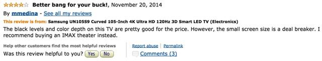 Đúng! Mua TV 105 inch làm gì, hãy mua luôn cái rạp chiếu phim ấy.