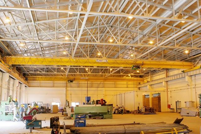 Khu vực xưởng gia công chế tạo