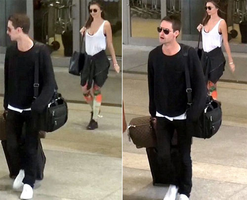 Trước đó, hôm 7/7, Miranda và Spiegel xuất hiện ở Sân bay quốc tế Los Angeles