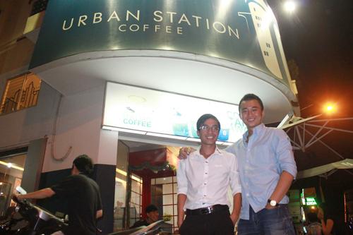 Nguyễn Hải Ninh (trái) và Đinh Nhật Nam (phải) thời còn hợp tác ở Urban Station.