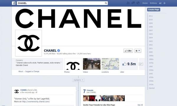 Chanel trên các mạng xã hội