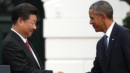 Chủ tịch Tập Cận bình và Tổng thống Mỹ Barack Obama.
