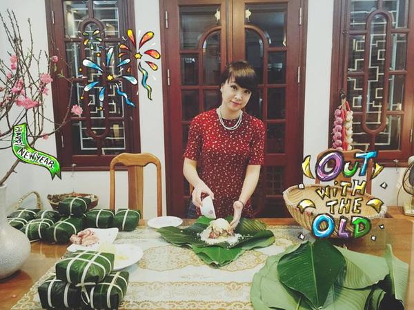 Hình ảnh mới nhất của Vua đầu bếp Minh Nhật trong Tết nguyên đán vừa rồi.