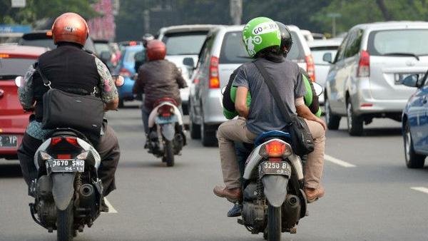 Xe ôm là loại phương tiện giao thông vô cùng phổ biến ở Indonesia.