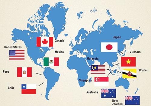 12 nước tham gia TPP