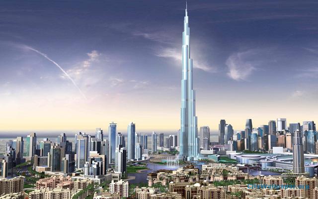 Tháp Burj Khalifa tại Dubai