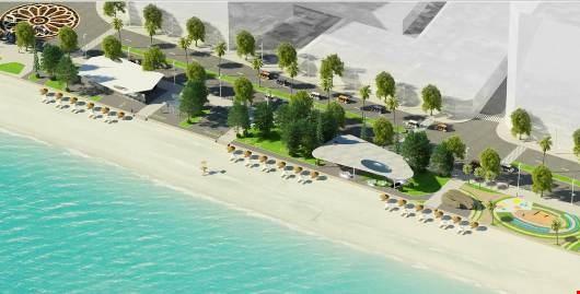 Phối cảnh một đoạn bãi biển Sầm Sơn theo quy hoạch mới
