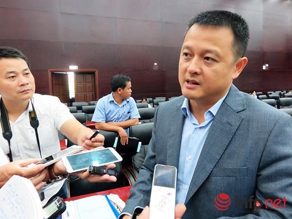 Ông Đặng Minh Trường, Tổng Giám đốc Sun Group trả lời phỏng vấn báo chí về việc Tập đoàn này được TP Đà Nẵng giao tổ chức các lễ hội pháo hoa quốc tế (Ảnh: HC)
