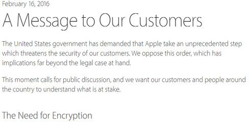 Bức tâm thư CEO Tim Cook gửi tới các khách hàng của Apple.