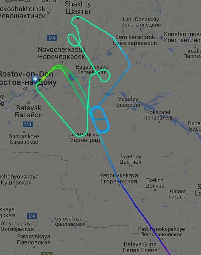 Hình ảnh Radar thể hiện lộ trình của chiếc Boeing 737 trước khi bị rơi (Ảnh: RT)