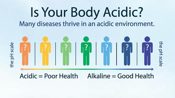 Một cơ thể có tính axit đồng nghĩa với tình trạng sức khỏe xấu