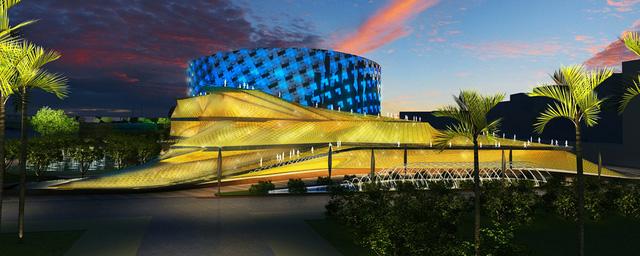 Mô hình ban đầu của dự án Nhà hát Opera tại Thủ Thiêm.