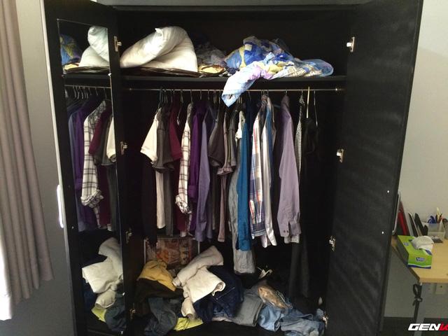 Tủ quần áo kinh hoàng của tôi trước khi tân trang.