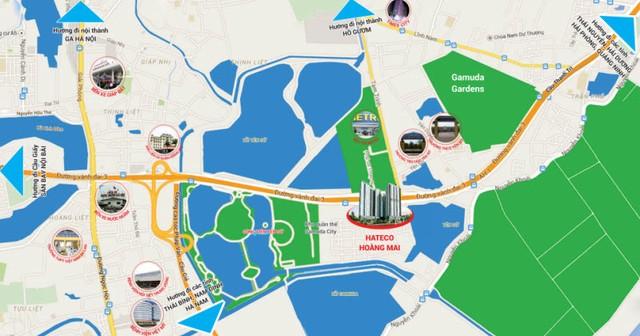 Dự án tọa lạc ngay sát vành đai 3 khu vực Yên Sở