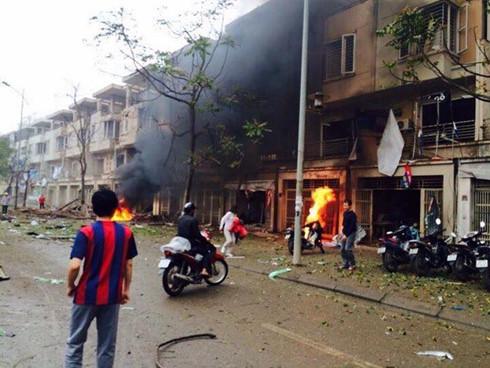 Hiện trường vụ nổ (ảnh FB)