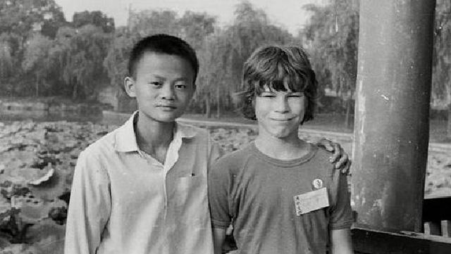 Jack Ma cùng một du khách đến Hàng Châu