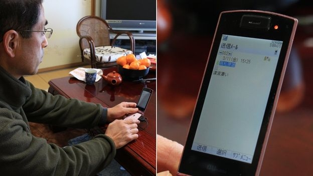 15h25 phút, Yuko cố gửi đi tin nhắn Trận sóng thần này thật khủng khiếp (Ảnh: Hiromi Tanoue)