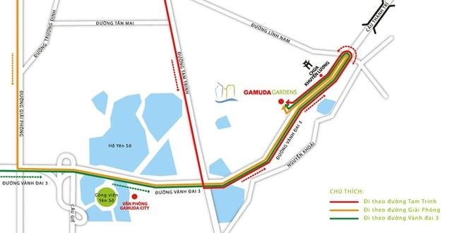 Dự án tọa lạc tại khu đô thị Gamuda Gardens