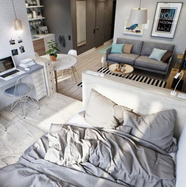 Để có một không gian sống thoải mái, bạn đừng ngại thu nhỏ quy mô của những món đồ sử dụng.