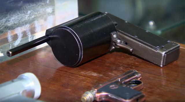 Các phần súng được tách rời