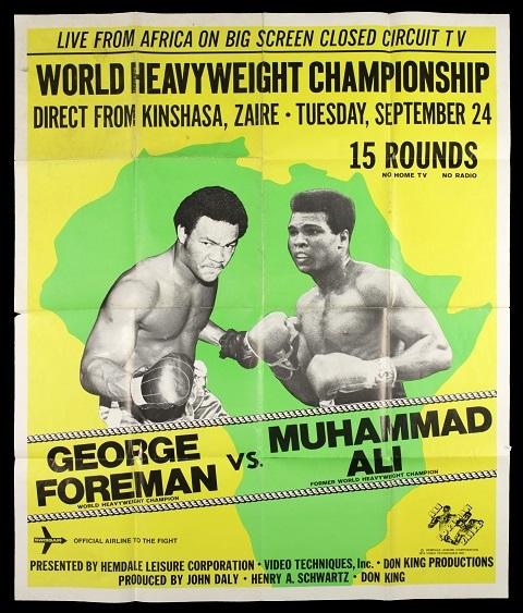Poster trận đấu giữa Muhammad Ali và George Foreman