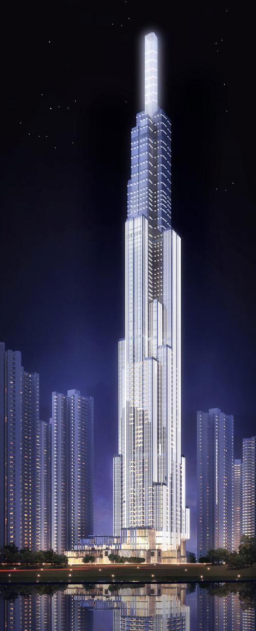 Ảnh mô hình tòa tháp Lanmark 81