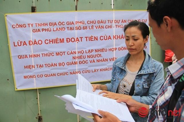 Một người mua căn hộ tại chung cư Gia Phú bức xúc khi biết chủ đầu tư bán một căn hộ cho nhiều người.