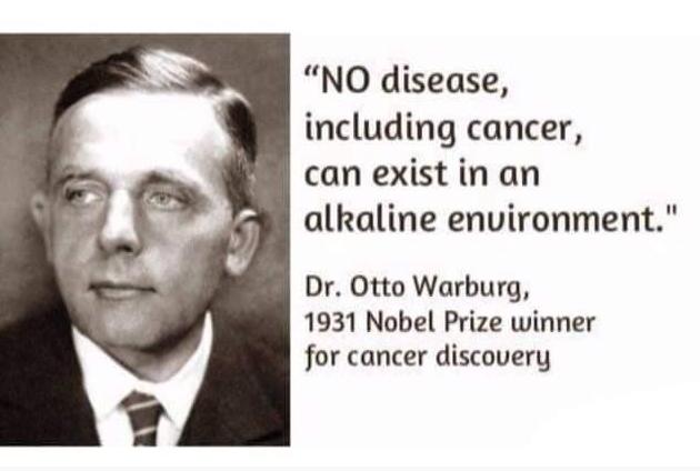Không có một căn bệnh nào, ngay cả ung thư có thể tồn tại trong môi trường kiềm