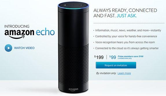 Thiết bị trợ lý giọng nói Echo của Amazon cũng mang giọng của một cô gái