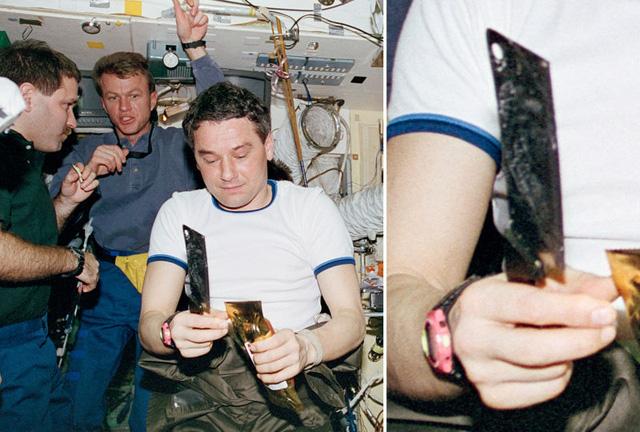Dao cắt thịt được sử dụng trên tàu không gian