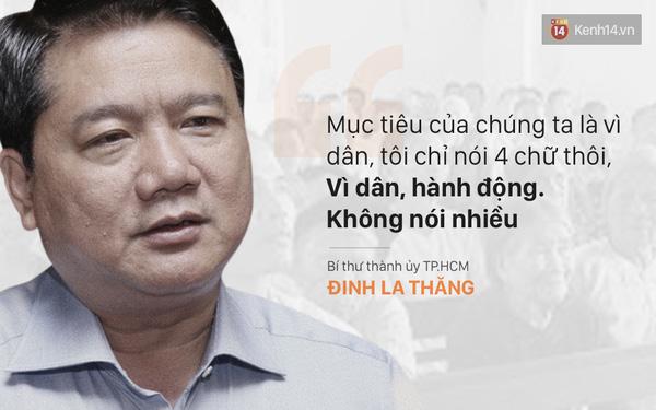 Lời nói và hành động của ông Đinh La Thăng khiến người dân có thể an tâm và tin tưởng